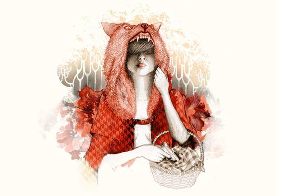 Little Red Riding Hood Art 11