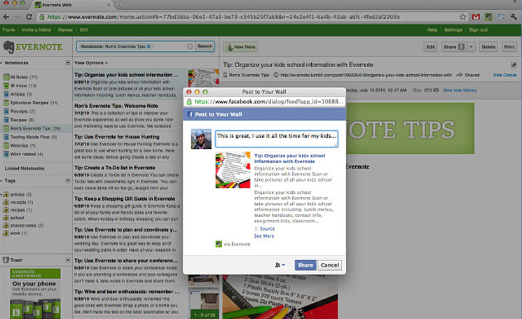 Google Chrome Extensions for Designers - Evernote