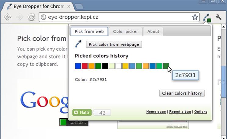 Google Chrome Extensions for Designers - Eye Dropper